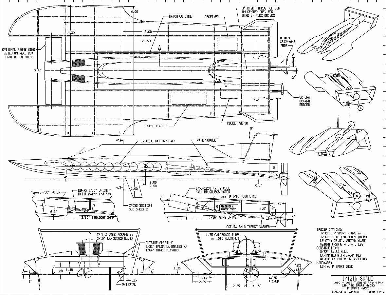 Free Plans: RC-Motor Ship